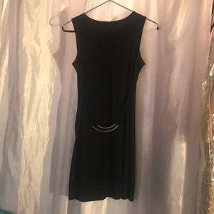 Dresses & Skirts - Little Black Dress w/ Stringy Silver Belt Strap